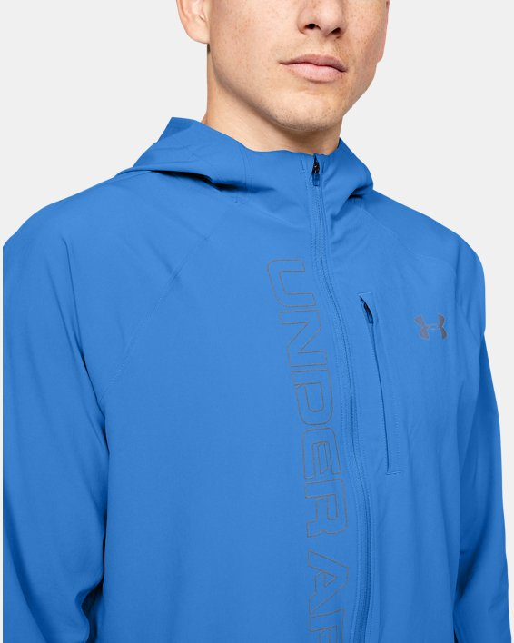 Veste UA Qualifier Outrun The Storm pour homme, Blue, pdpMainDesktop image number 5