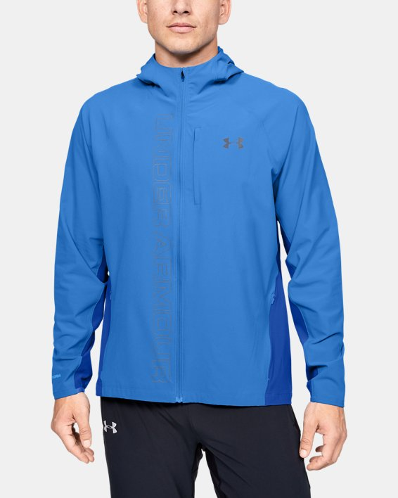 Veste UA Qualifier Outrun The Storm pour homme, Blue, pdpMainDesktop image number 0