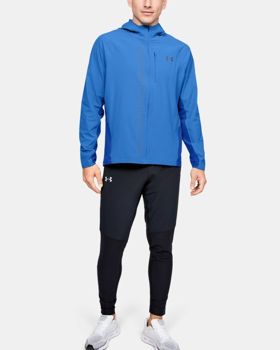 Veste UA Qualifier Outrun The Storm pour homme, Blue, pdpMainDesktop image number 1