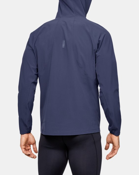 Men's UA Qualifier Outrun The Storm Jacket, Blue, pdpMainDesktop image number 2
