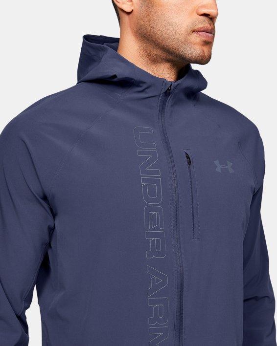 Men's UA Qualifier Outrun The Storm Jacket, Blue, pdpMainDesktop image number 5