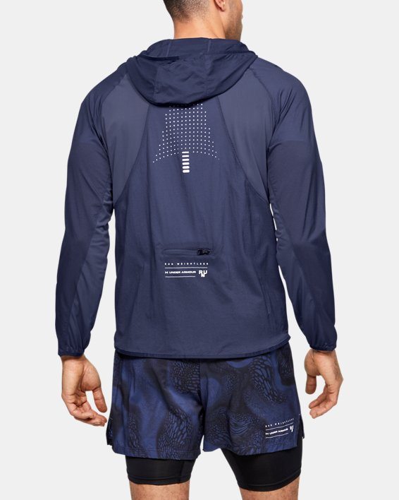Men's UA Qualifier Weightless Packable Jacket, Blue, pdpMainDesktop image number 0