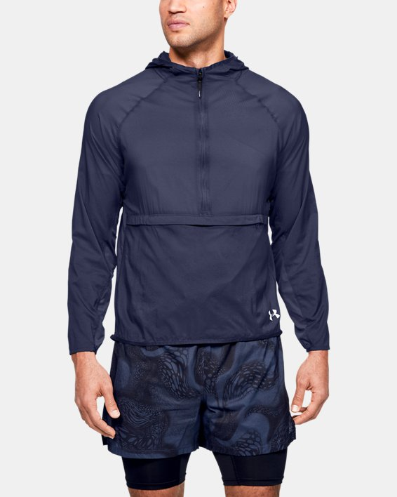 Men's UA Qualifier Weightless Packable Jacket, Blue, pdpMainDesktop image number 2