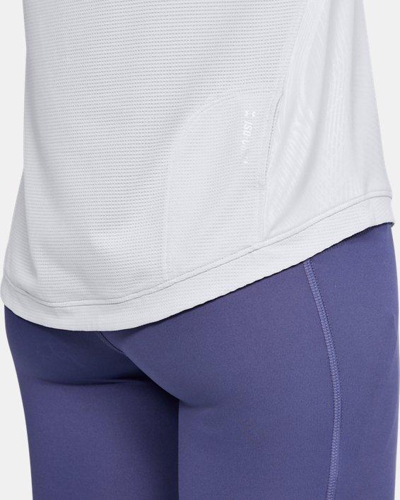 Women's UA Qualifier Iso-Chill Embossed Short Sleeve, Gray, pdpMainDesktop image number 5