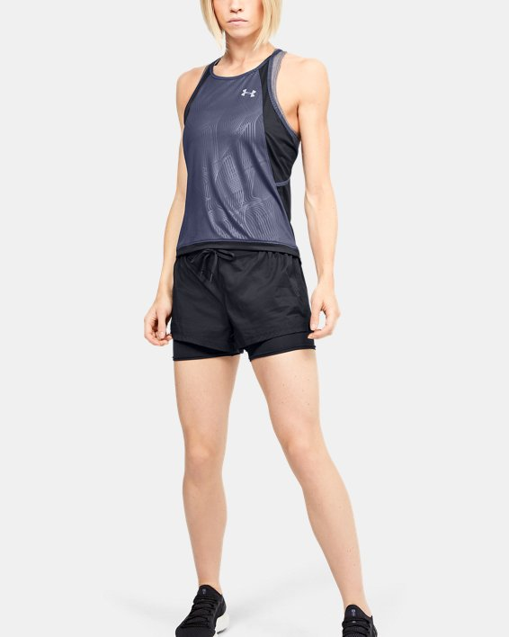 Women's UA Qualifier Iso-Chill Embossed Tank, Blue, pdpMainDesktop image number 1