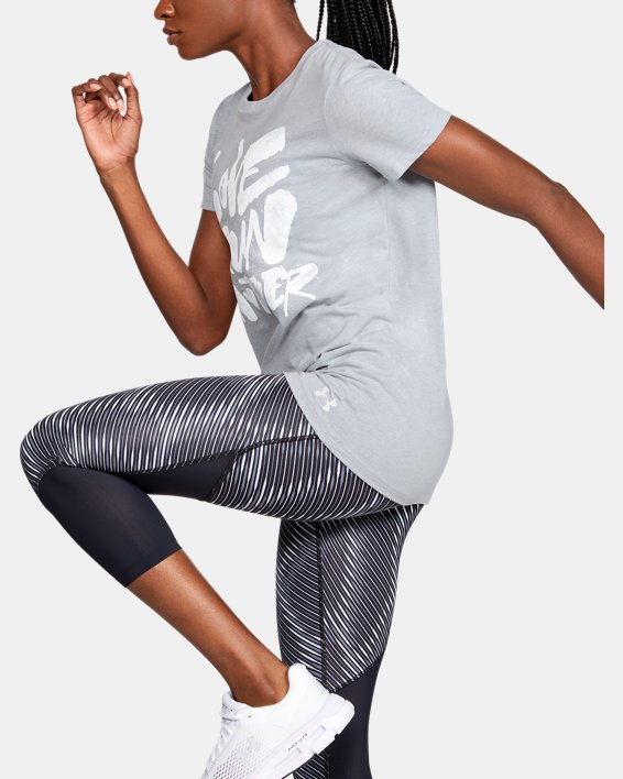 Women's UA Love Run Another Short Sleeve, Gray, pdpMainDesktop image number 3