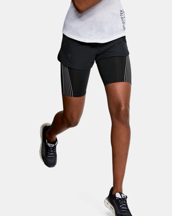 Short 2-en-1 UA RUSH™ Run pour femme, Black, pdpMainDesktop image number 0