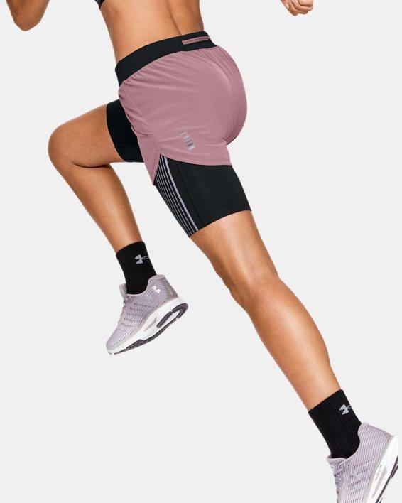 Women's UA RUSH™ Run 2-in-1 Shorts, Pink, pdpMainDesktop image number 2