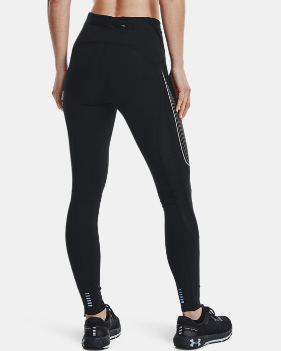 Women's UA RUSH™ Run Stamina Tights, Black, pdpMainDesktop image number 2