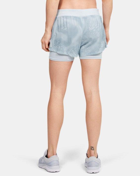 Women's UA Speedpocket Weightless 2-in-1 Shorts, Gray, pdpMainDesktop image number 2