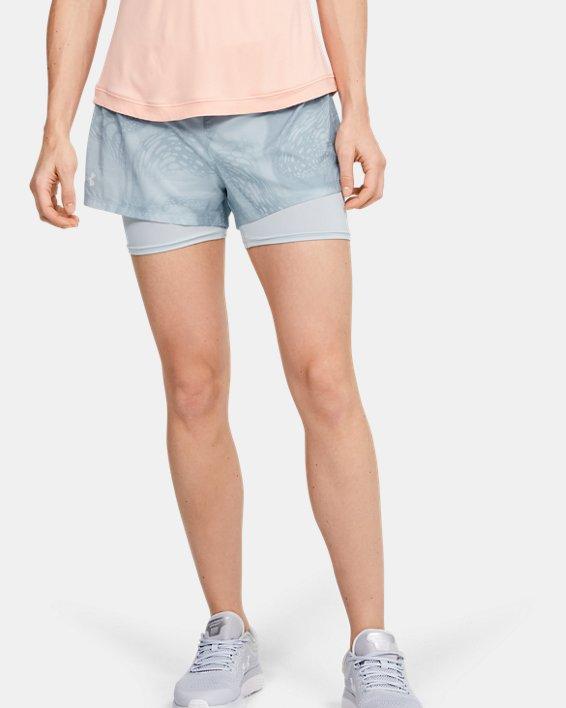 Women's UA Speedpocket Weightless 2-in-1 Shorts, Gray, pdpMainDesktop image number 1