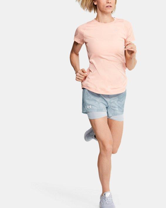 Women's UA Speedpocket Weightless 2-in-1 Shorts, Gray, pdpMainDesktop image number 0