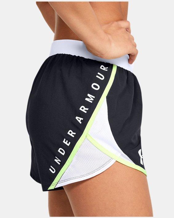 Women's UA Fly-By 2.0 Wordmark Shorts, Black, pdpMainDesktop image number 5