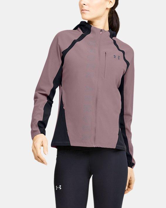 Women's UA Qualifier OutRun The Storm Jacket, Pink, pdpMainDesktop image number 0