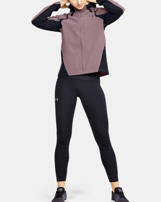 Women's UA Qualifier OutRun The Storm Jacket, Pink, pdpMainDesktop image number 1