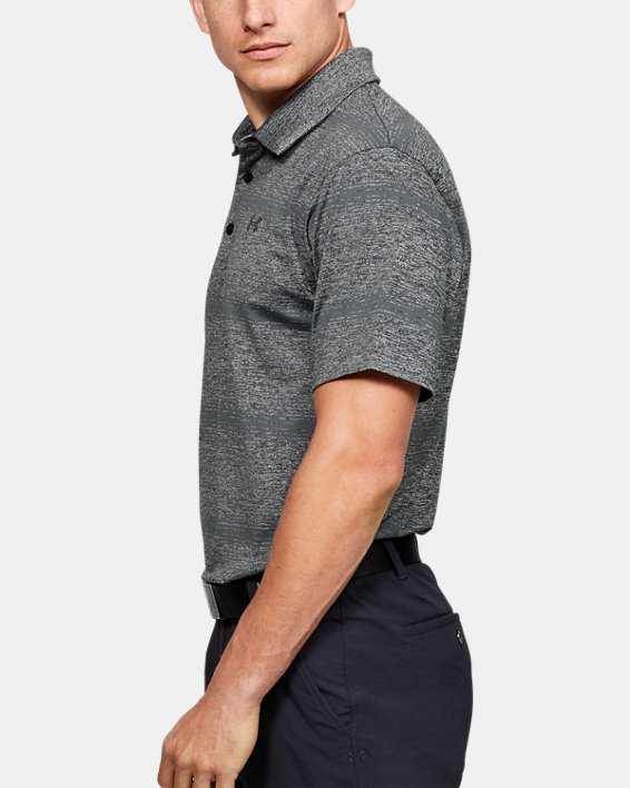 Men's UA Playoff Polo Stripe, Black, pdpMainDesktop image number 3
