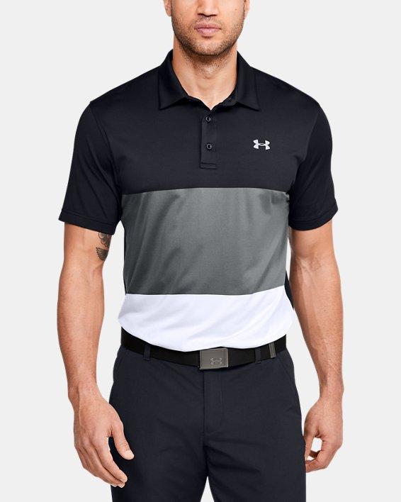 Men's UA Playoff Polo Colorblock, Black, pdpMainDesktop image number 0