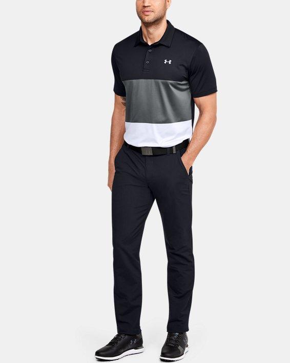 Men's UA Playoff Polo Colorblock, Black, pdpMainDesktop image number 1