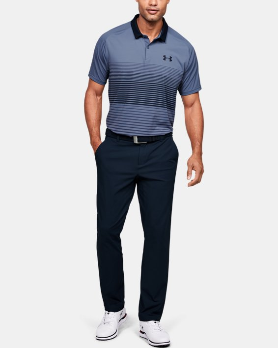 Men's UA Iso-Chill Polo Stripe, Blue, pdpMainDesktop image number 1