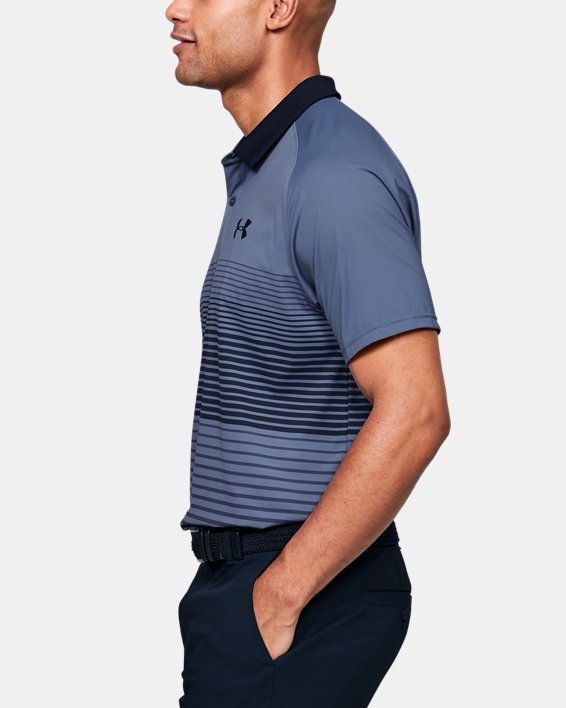 Men's UA Iso-Chill Polo Stripe, Blue, pdpMainDesktop image number 3