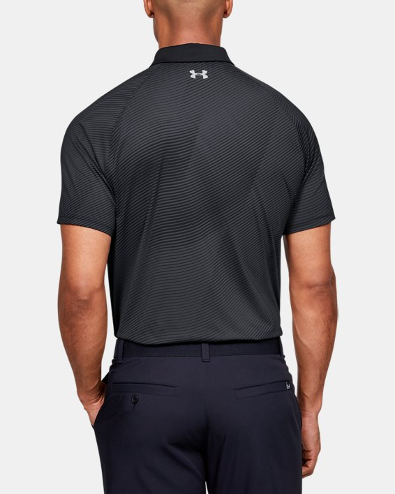 Men's UA Iso-Chill Polo, Black, pdpMainDesktop image number 2