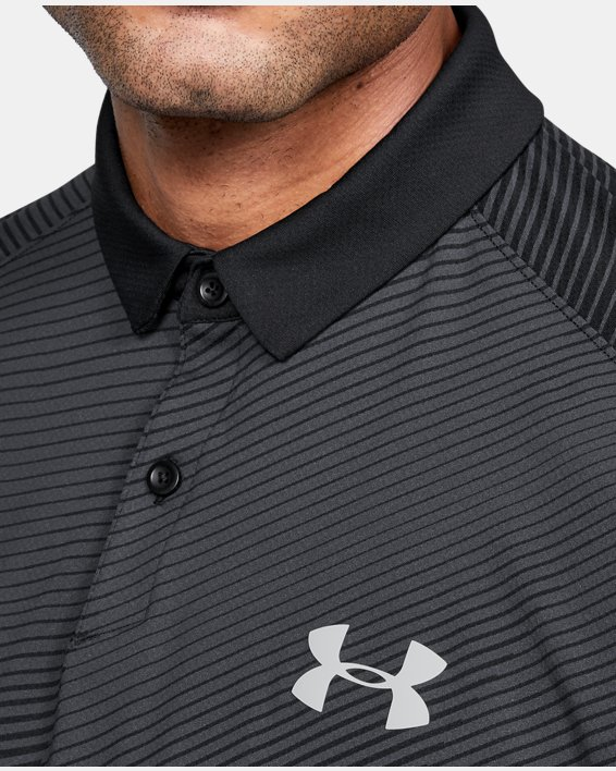 Men's UA Iso-Chill Polo, Black, pdpMainDesktop image number 5