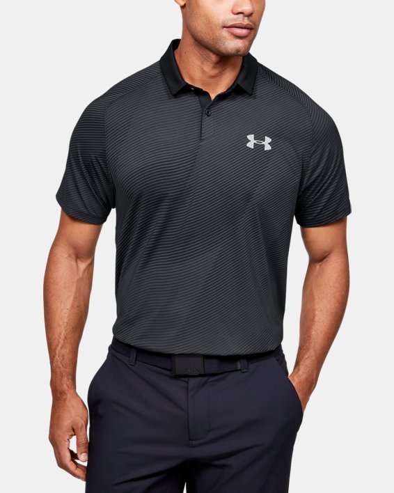 Men's UA Iso-Chill Polo, Black, pdpMainDesktop image number 0