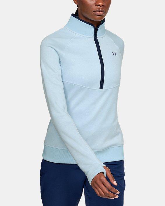 Women's UA Storm SweaterFleece ½ Zip, Blue, pdpMainDesktop image number 0