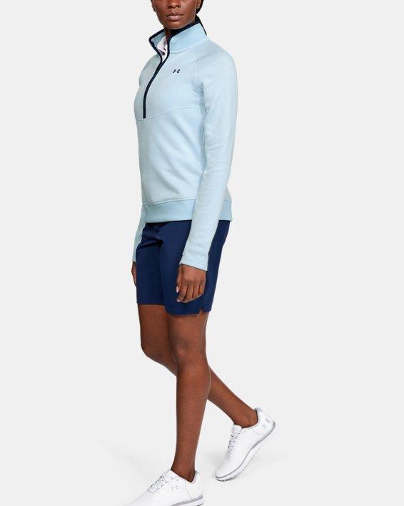 Women's UA Storm SweaterFleece ½ Zip, Blue, pdpMainDesktop image number 1
