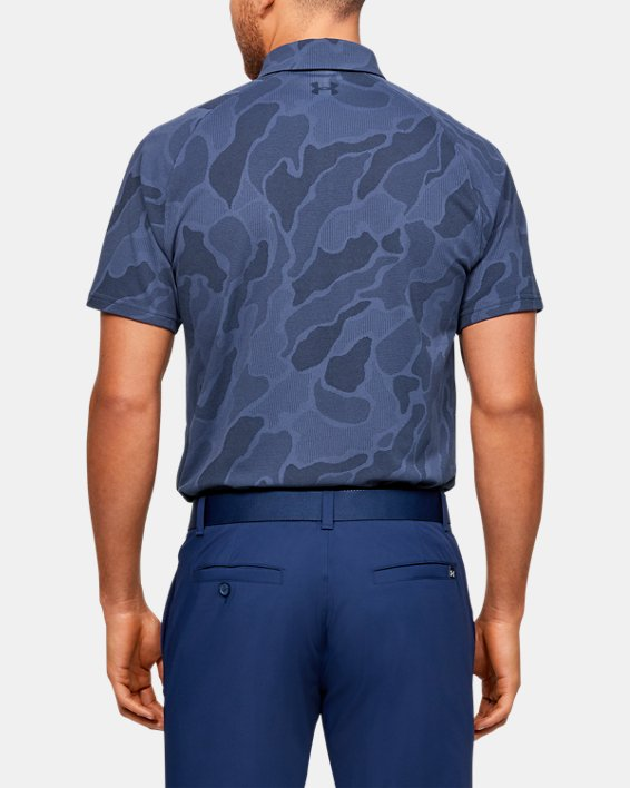 Men's UA Vanish Jacquard Polo, Blue, pdpMainDesktop image number 2