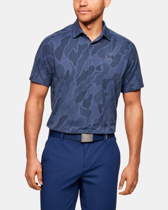 Men's UA Vanish Jacquard Polo, Blue, pdpMainDesktop image number 0