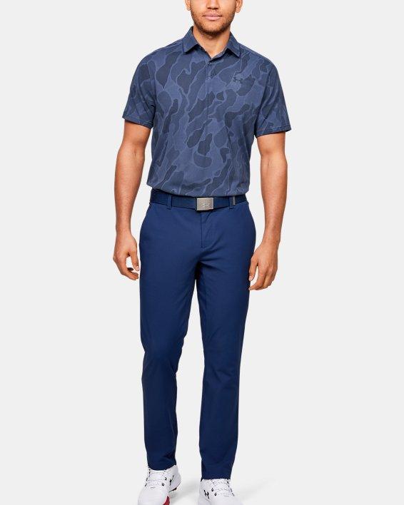 Men's UA Vanish Jacquard Polo, Blue, pdpMainDesktop image number 1