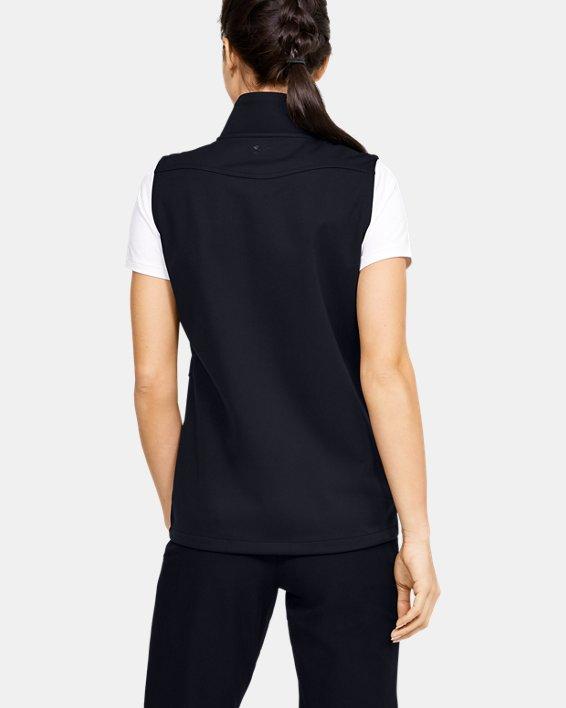 Women's UA Soft Shell Vest, Black, pdpMainDesktop image number 2