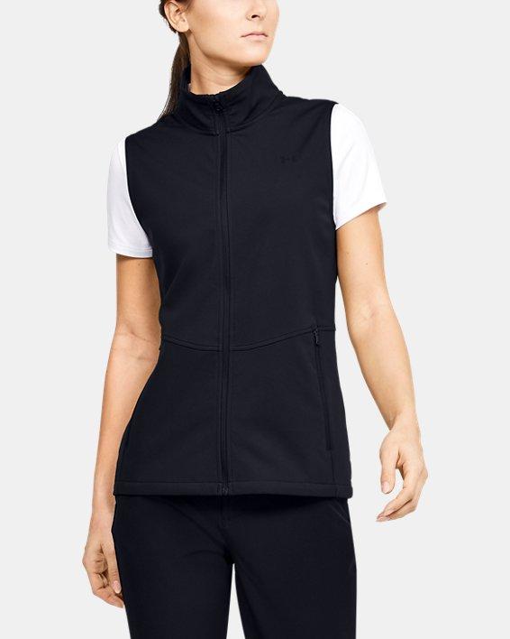 Women's UA Soft Shell Vest, Black, pdpMainDesktop image number 0