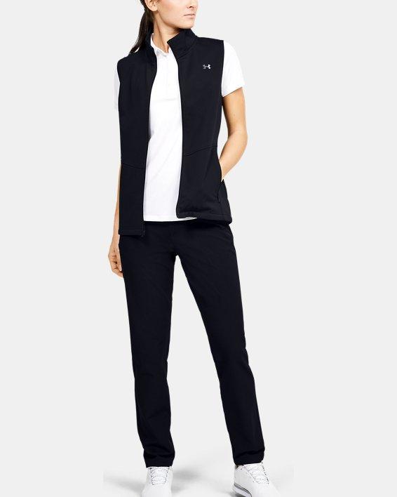 Women's UA Soft Shell Vest, Black, pdpMainDesktop image number 1