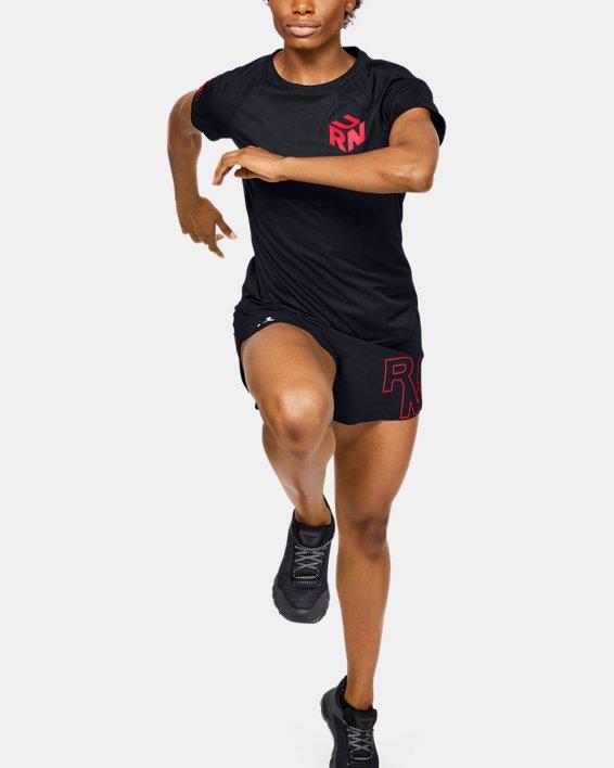 Women's UA Get Out & Run Short Sleeve, Black, pdpMainDesktop image number 1