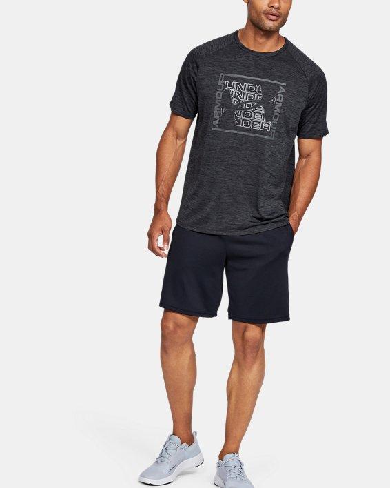 Men's UA Tech™ Graphic Short Sleeve T-Shirt, Black, pdpMainDesktop image number 1