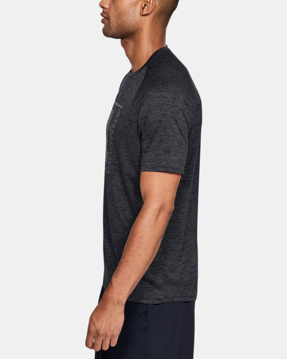 Men's UA Tech™ Graphic Short Sleeve T-Shirt, Black, pdpMainDesktop image number 3