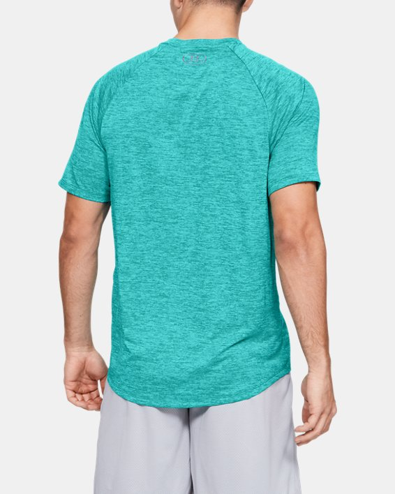 Men's UA Tech™ Graphic Short Sleeve T-Shirt, Green, pdpMainDesktop image number 2