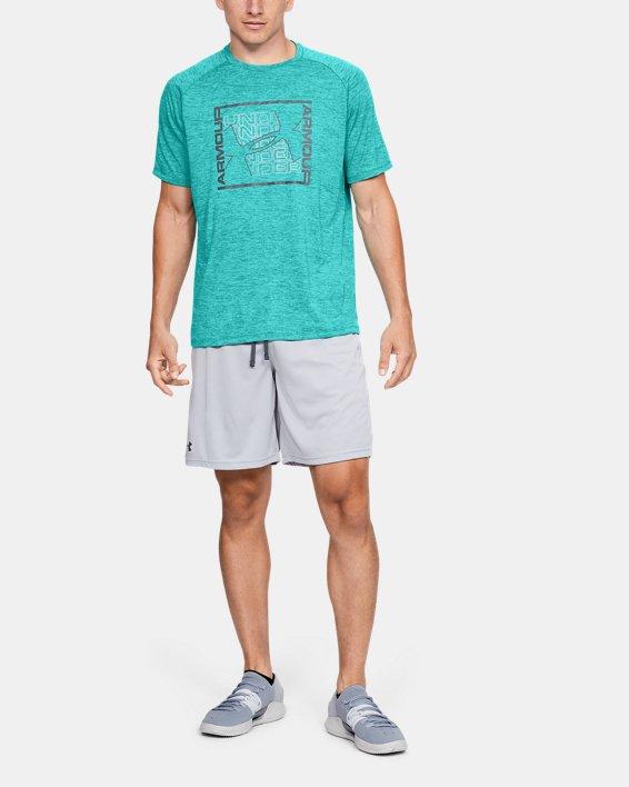Men's UA Tech™ Graphic Short Sleeve T-Shirt, Green, pdpMainDesktop image number 1