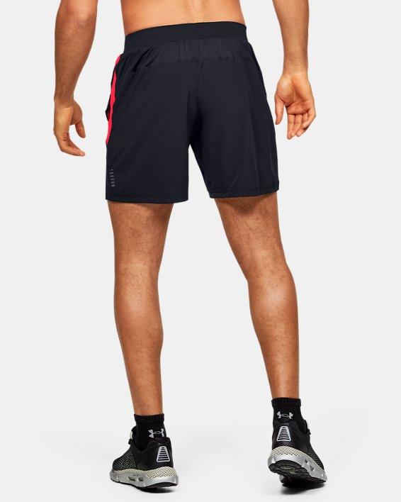 Men's UA Qualifier Speedpocket Branded 7'' Linerless Shorts, Black, pdpMainDesktop image number 2