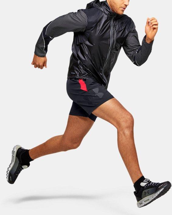 Men's UA Qualifier Speedpocket Branded 7'' Linerless Shorts, Black, pdpMainDesktop image number 0