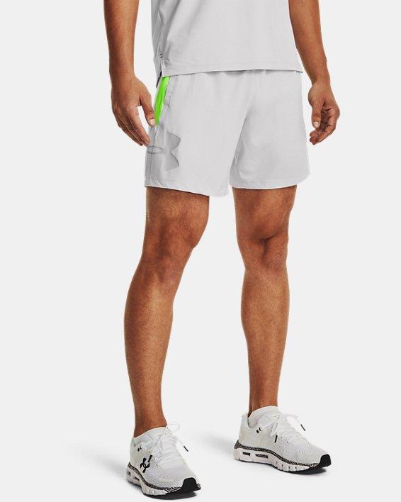 Short UA Qualifier Speedpocket Branded Linerless 18cm pour homme, Gray, pdpMainDesktop image number 0