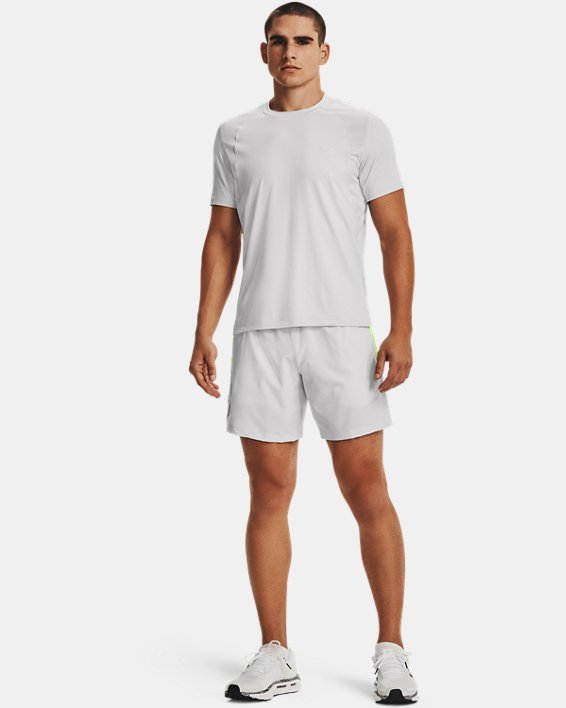 Short UA Qualifier Speedpocket Branded Linerless 18cm pour homme, Gray, pdpMainDesktop image number 2