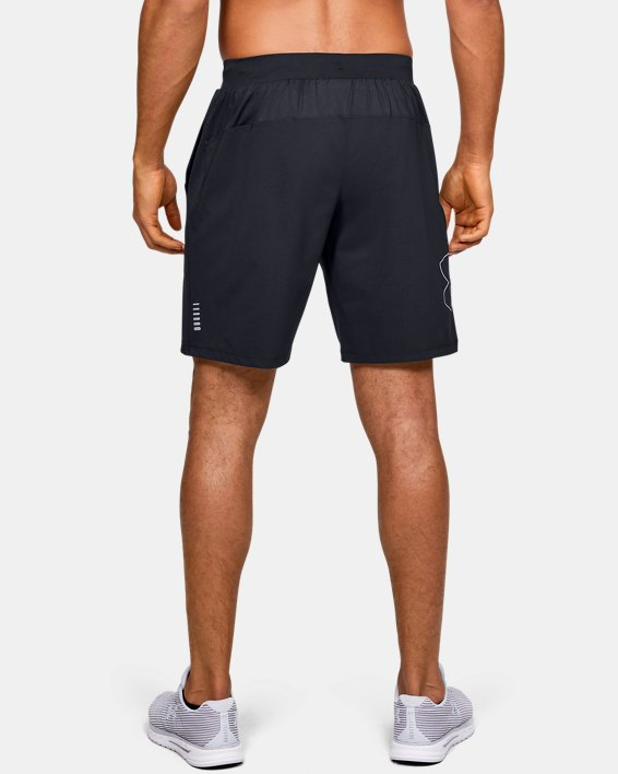 Men's UA Qualifier Speedpocket 9'' Linerless Shorts, Black, pdpMainDesktop image number 2