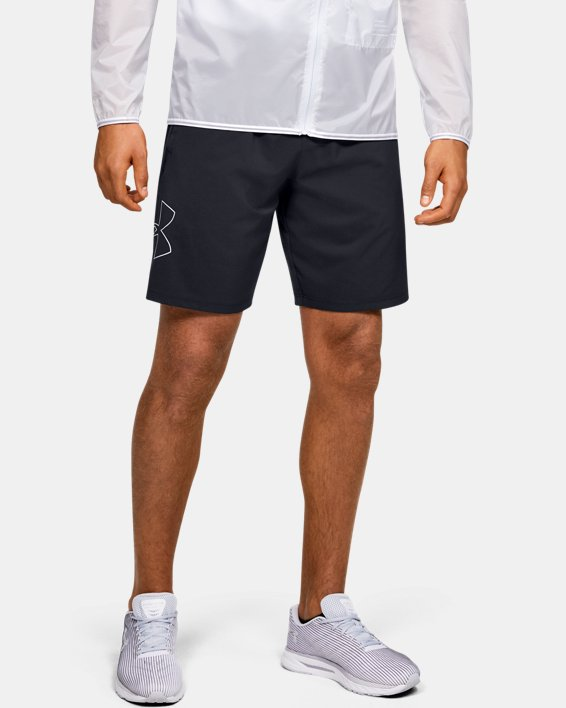 Men's UA Qualifier Speedpocket 9'' Linerless Shorts, Black, pdpMainDesktop image number 0