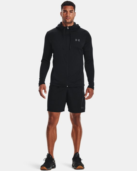 Men's UA Tech™ Terry Full Zip, Black, pdpMainDesktop image number 1