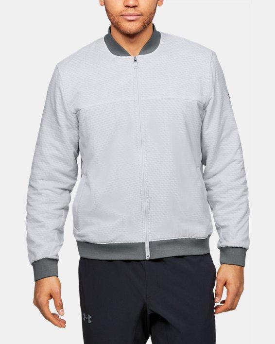 Men's ColdGear® Reactor Bomber Jacket, Gray, pdpMainDesktop image number 0