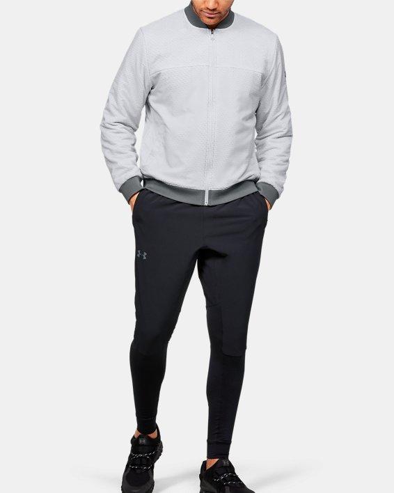 Men's ColdGear® Reactor Bomber Jacket, Gray, pdpMainDesktop image number 1