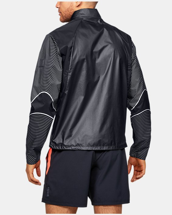 Men's UA Run Impasse Wind Reflect Jacket, Black, pdpMainDesktop image number 2